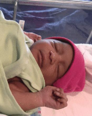 Baby Lundyn Lillyan Smith was born in Summerville, SC, during Hurricane Irma.