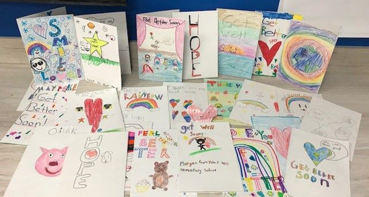 Cards and letters of appreciation have poured into Sunrise since the event.