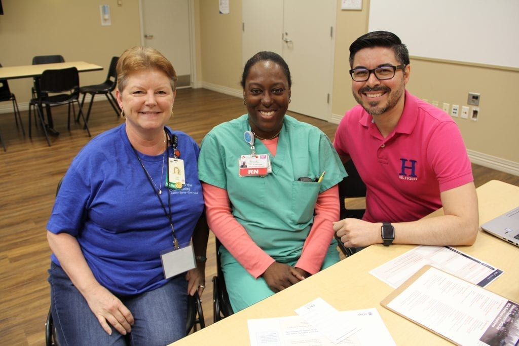 Tricia Wren (center), RN Labor and Delivery Nurse Manager at Houston Northwest Medical Center and recipient of the Hope Fund.
