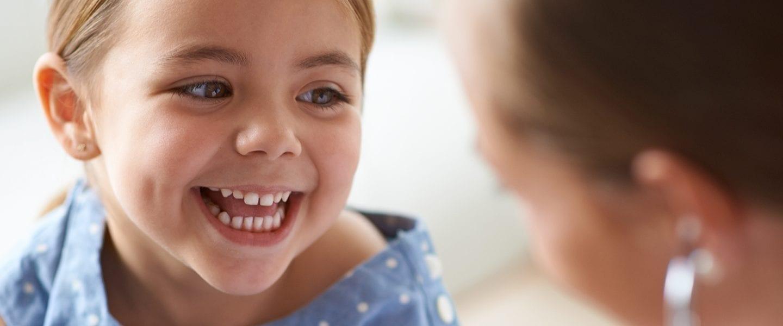 Smiling child patient