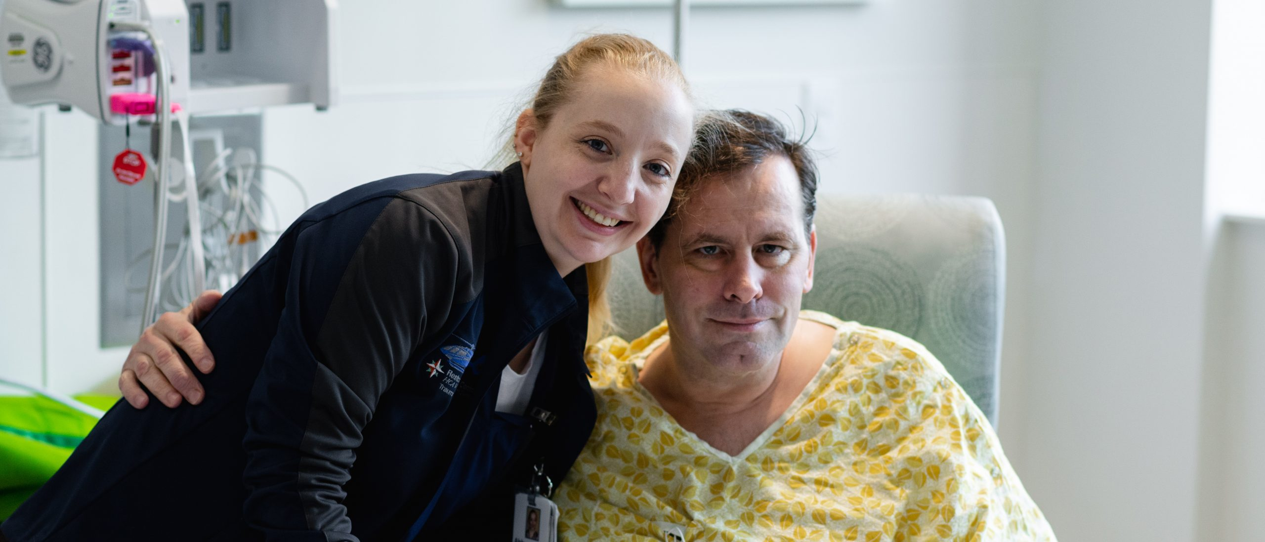 Abby DeSesso with patient