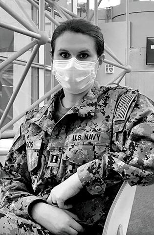 Maria Spingos, Director of nursing for behavioral health, West Florida Hospital, Pensacola, Fla., and Navy Reservist