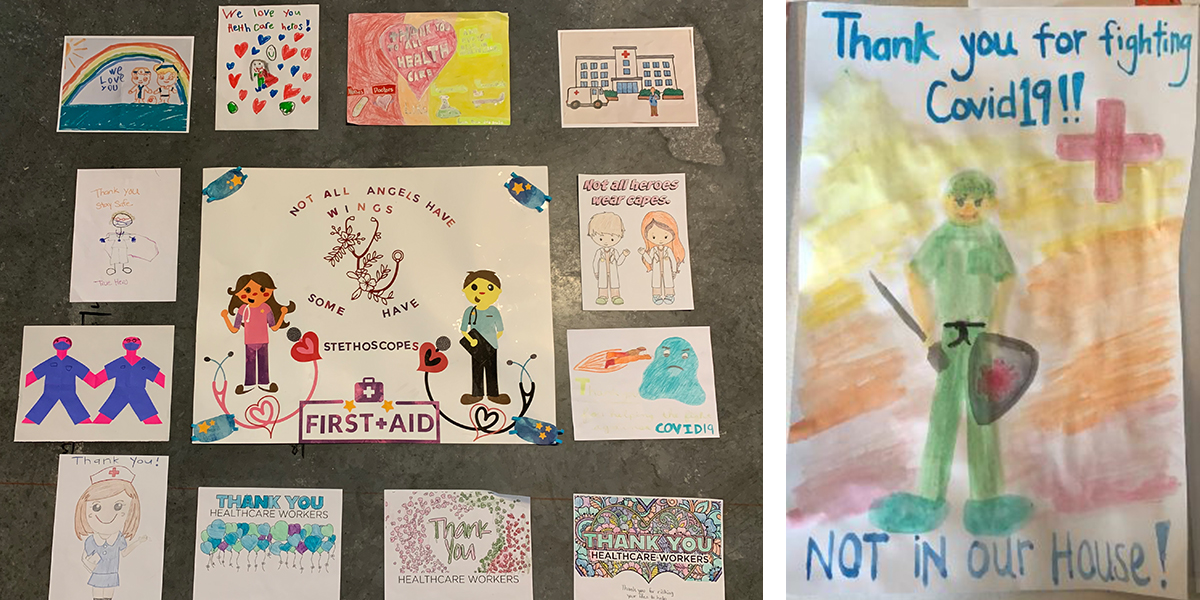 Thank you cards for healthcare workers from children