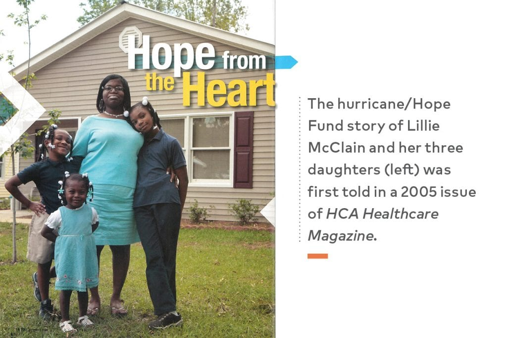 Hope Fund Magazine Feature about Lillie McClain and her three daughters