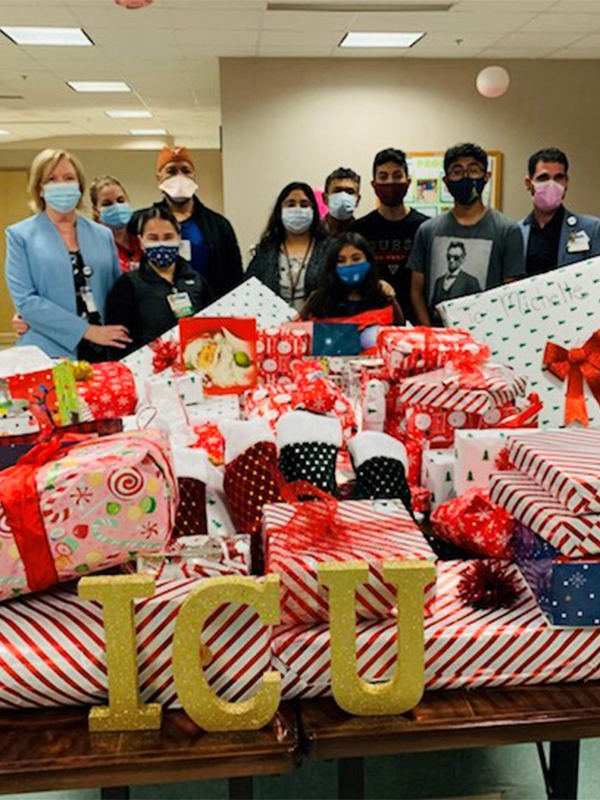 Nursing Through a Pandemic and Emerging Stronger Than Ever, ICU raises money for Christmas presents