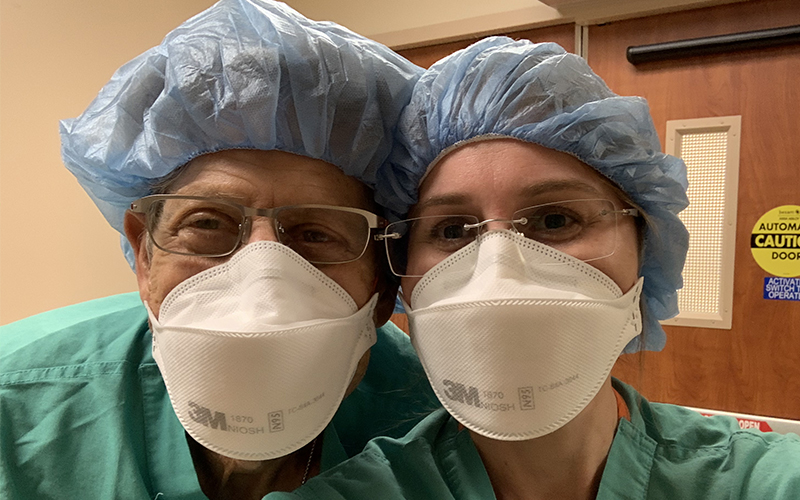 Family Medicine Raymond and Lauren Poliakin face masks