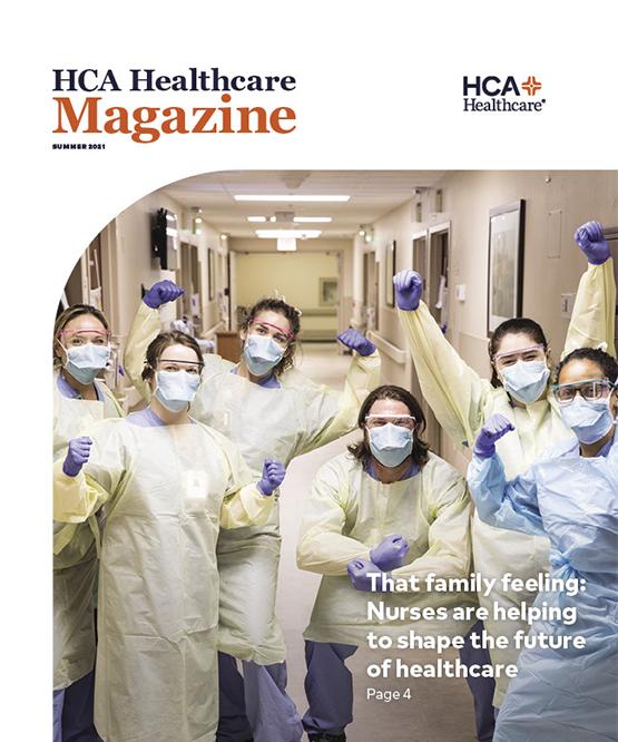 HCA Healthcare Summer 2021 Magazine Cover