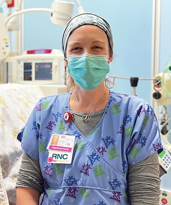 Nurse Christy Browning, Rocky Mountain Hospital for Children Denver, Colo.